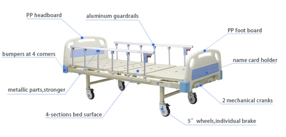 2 crank hospital bed supply